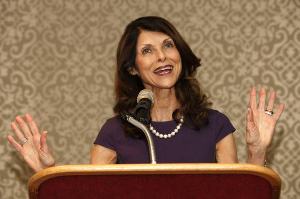 Pam Tebow, mother of NFL star Tim Tebow, shares her faith testimony at the Deaconess Pregnancy and Adoption Services Angels of Destiny Luncheon on Thursday at the Oklahoma City Golf and Country Club.  <strong>David McDaniel - The Oklahoman</strong>