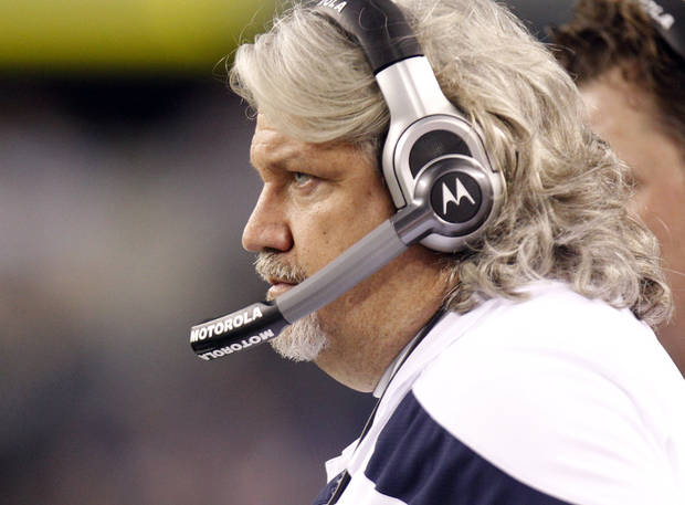 Dallas Cowboys defensive coordinator Rob Ryan during a preseason NFL football game against the San Diego Chargers Sunday, Aug. 21, 2011, in Arlington, Texas. The Chargers won 20-7. (AP Photo/LM Otero)