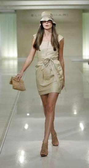 Elie Tahari spring runway show in New York. (AP PHOTO)