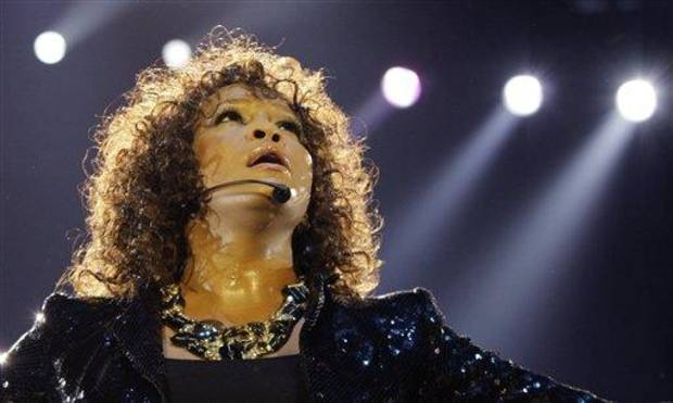 "FILE - In this Sunday, April 25, 2010, file photo, U.S singer Whitney Houston performs at the o2 in London as part of her European tour, Sunday, April 25, 2010. Whitney Houston was the ""top trending"" search of 2012 according to Google Inc.'s year-end ""zeitgeist"" report. Google's 12th annual roundup is ""an in-depth look at the spirit of the times as seen through the billions of searches on Google over the past year,"" the company said in a blog post Wednesday. (AP Photo/Joel Ryan, File)"