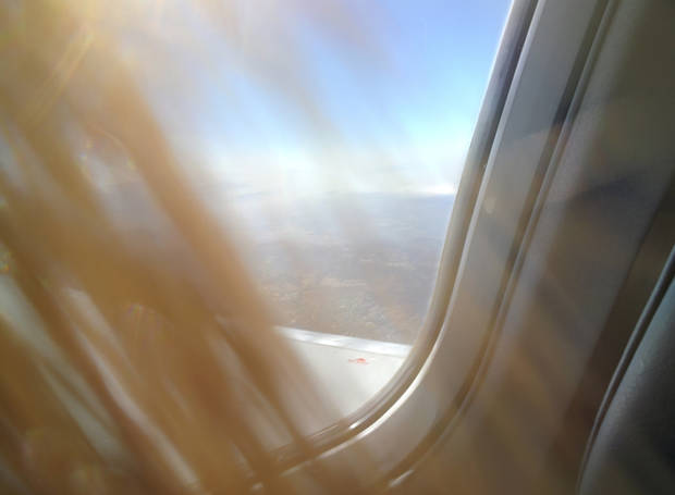 And here's a view from the plane of … more hair. PHOTO TAKEN WITH GLASS BY LILLIE-BETH BRINKMAN, THE OKLAHOMAN