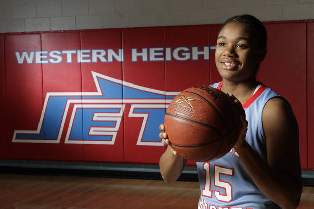 Western Height's Antoinet Webster has signed with Tulsa, her coach said. PHOTO BY DAVID MCDANIEL, THE OKLAHOMAN
