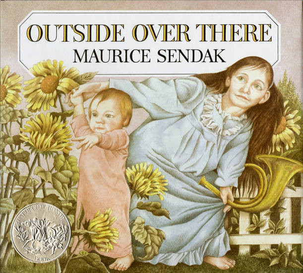 "In this book cover image released by HarperCollins, children's book ""Outside Over There,"" by Maurice Sendak, is shown. Sendak, author and illustrator of popular children's books died, Tuesday, May 8, 2012 at Danbury Hospital in Danbury, Conn. He was 83. (AP Photo/HarperCollins, Copyright © 1981 by Maurice Sendak)"
