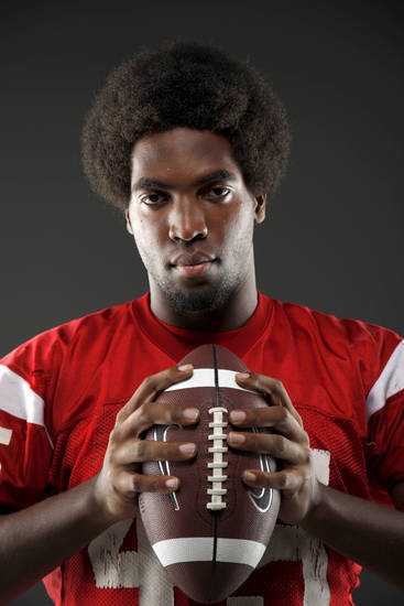 All-State football player D.J. Ward, of Lawton, poses for a photo in Oklahoma CIty, Wednesday, Dec. 14, 2011. Photo by Bryan Terry, The Oklahoman