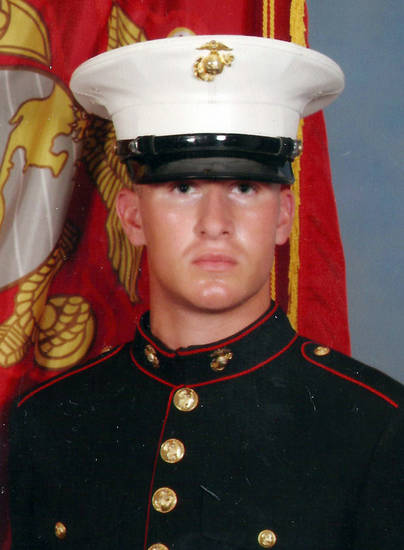 This undated photo provided by the U.S. Marines shows Cpl. Aaron Ripperda of Highland, Ill. Ripperda was killed with six other Marines in an explosion during a Nevada training exercise on Monday, March 18, 2013. (AP Photo/U.S. Marines)