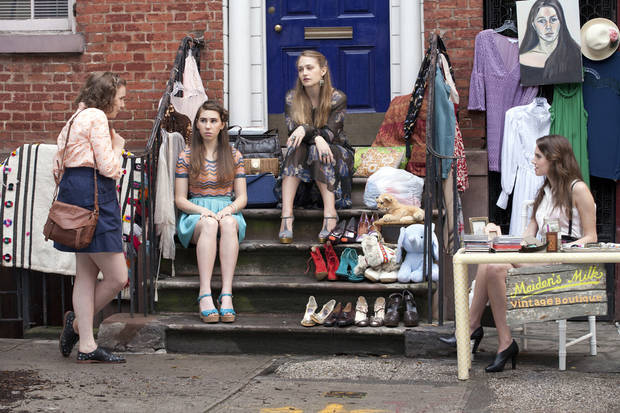 "From left, Lena Dunham, Zosia Mamet, Jemima Kirke and Allison Williams star in ""Girls."" - HBO Photo"