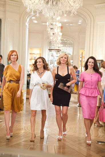 "FILE-  In this publicity image released by Warner Bros., from left, Cynthia Nixon, Sarah Jessica Parker, Kim Cattrall and Kristin Davis are shown in a scene from, ""Sex and the City 2.""    (AP Photo/Warner Bros., Craig Blankenhorn, FILE)  NO SALES ORG XMIT: NYLS209"