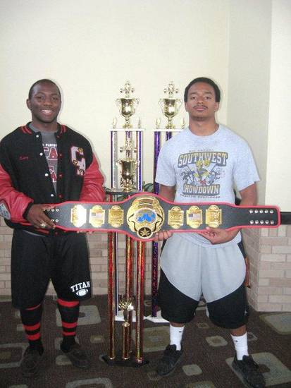 Quincy Johnson and T.J. Wright bring home more powerlifting gold.