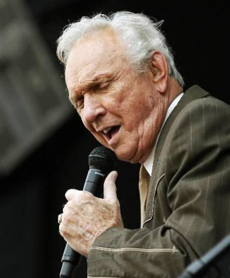 Country Music Hall of Famer Mel Tillis performs during the Oklahoma Twiste