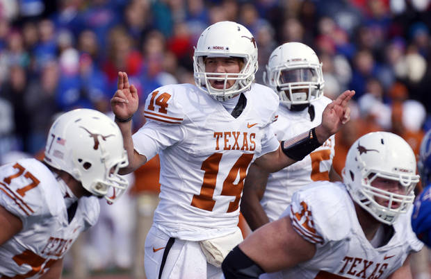 This is a big season for Texas QB David Ash. (AP Photo/Reed Hoffmann)