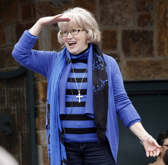 "Singer Gayla Peevey came back to Oklahoma City at the Zoo to sing her hit song from 1953, ""I Want a Hippopotamus for Christmas"" Sunday, November 20, 2011. Photo by Doug Hoke, The Oklahoman"
