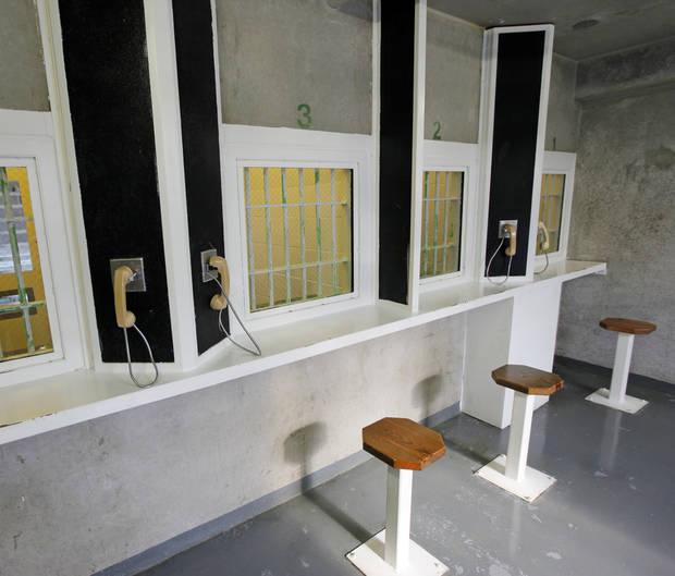 A visitation area in H Unit at the Oklahoma State Penitentiary in McAlester, Okla., Wednesday, Dec. 7, 2011. Photo by Nate Billings, The Oklahoman