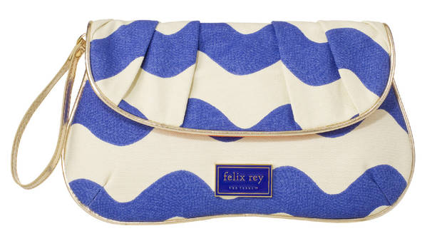 Felix Rey rickrack clutch, $19.99, from Target.