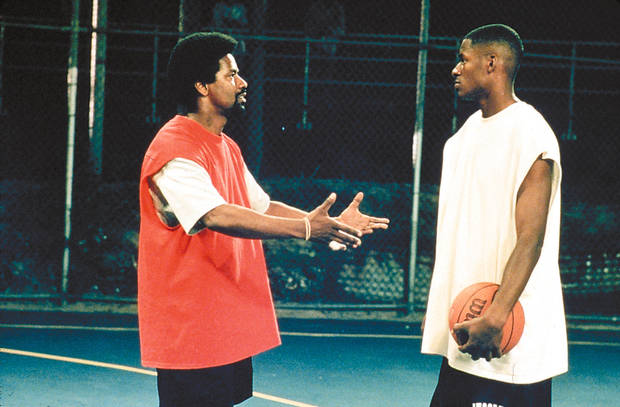 "Denzel Washington, left, and Ray Allen star in ""He Got Game."""