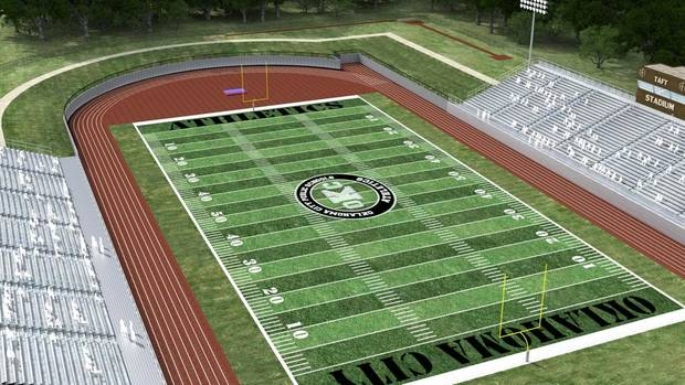 The rendering of the new Taft Stadium from MA+ Architecture. Photo provided.