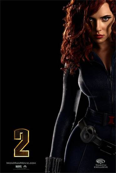 Scarlett Johansson as the Black Widow
