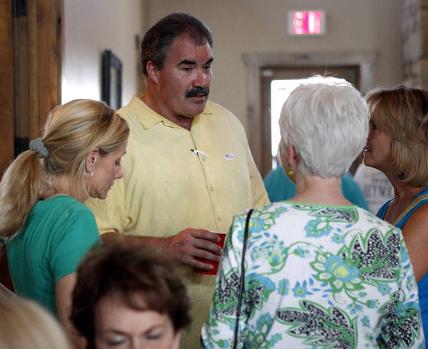 Oklahoma Senate District 41 candidate Paul Blair, R-Edmond, talks with supporters during a watch party in Edmond, Okla., Tuesday, June 26, 2012. Photo by Bryan Terry, The Oklahoman