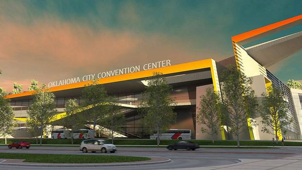 This provided  illustration shows the proposed MAPS 3 Oklahoma City Convention Center.