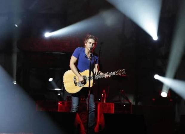 Hunter Hayes performs at the Chesapeake Energy Arena in Oklahoma City, Thursday, Oct. 25, 2012. Photos by Garett Fisbeck, The Oklahoman