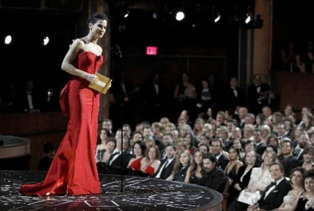 Sandra Bullock introduces the best actor nominees.