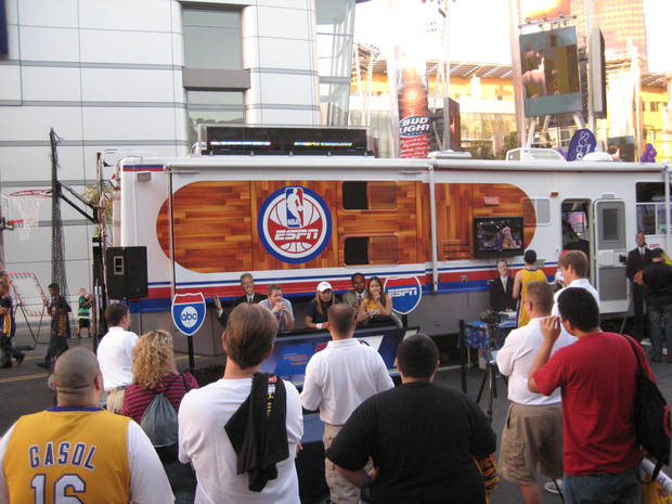 The NBA on ESPN RV Tour comes to Oklahoma City on Sunday.