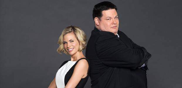 "Brooke Burns and Mark ""The Beast"" Labbett of ""The Chase"" - GSN Photo"