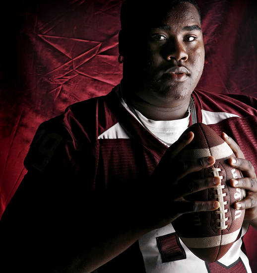 Jenks High School's Tony Gillespie All State Defensive Lineman. 