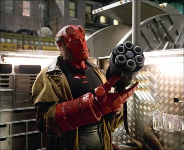 Ron Perlman as Hellboy in Hellboy 2: The Golden Army