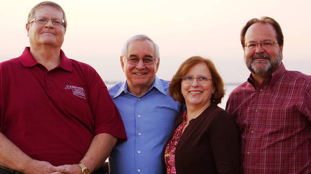From left, PSA Consulting Engineers partners Bill McVey, president; retiiring partner Jim Stewart; Jeni Fair, executive vice president; and Mike Fair, secretary/treasurer. PHOTO PROVIDED <strong></strong>