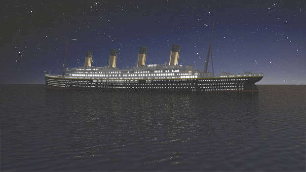 The Titanic - Courtesy of Tile Films Ltd.