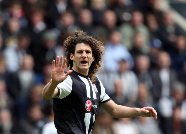 <p>Newcastle United's captain Fabricio Coloccini, is seen during their English Premier League soccer match against Manchester City at the Sports Direct Arena, Newcastle, England, Sunday, May 6, 2012. (AP Photo/Scott Heppell)</p>