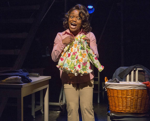 "This publicity photo released by Karen Greco PR shows Kenita Miller in a scene from the musical ""Working,"" based on Studs Terkel�s book, at 59E59 Theaters in New York.  (AP Photo/Karen Greco PR, Richard Termine)"