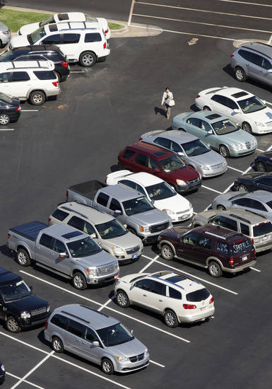 Shoppers in the mall parking lot at Penn Square Mall in Oklahoma City Wednesday, Oct. 3, 2012.  Photo by Paul B. Southerland, The Oklahoman
