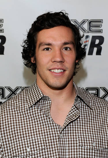 Sam Bradford, before letting an AXE stylist buzz his hair. Photo by Eugene Gologursky/WireImage.com
