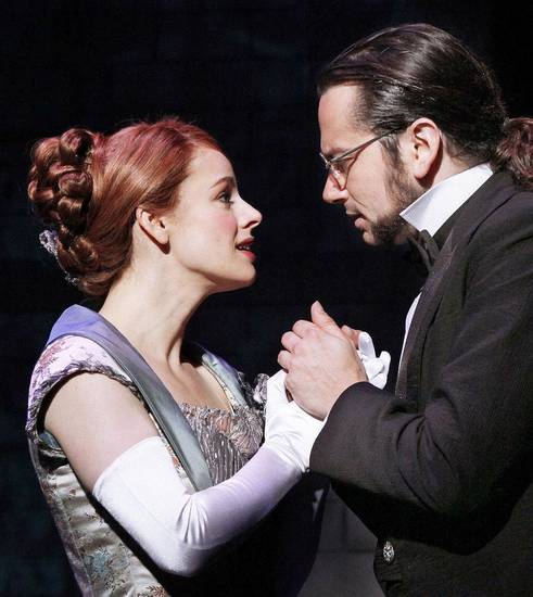 Teal Wicks and Constantine Maroulis star as Emma Carew and Henry Jekyll in the national touring production of �Jekyll & Hyde.�