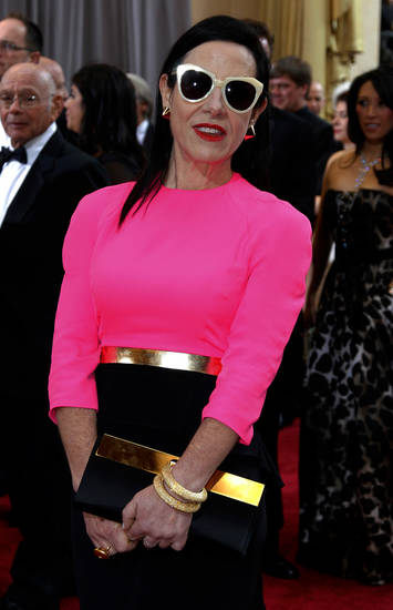 Arianne Phillips arrives before the 84th Academy Awards on Sunday, Feb. 26, 2012, in the Hollywood section of Los Angeles. (AP Photo/Amy Sancetta) ORG XMIT: OSC197