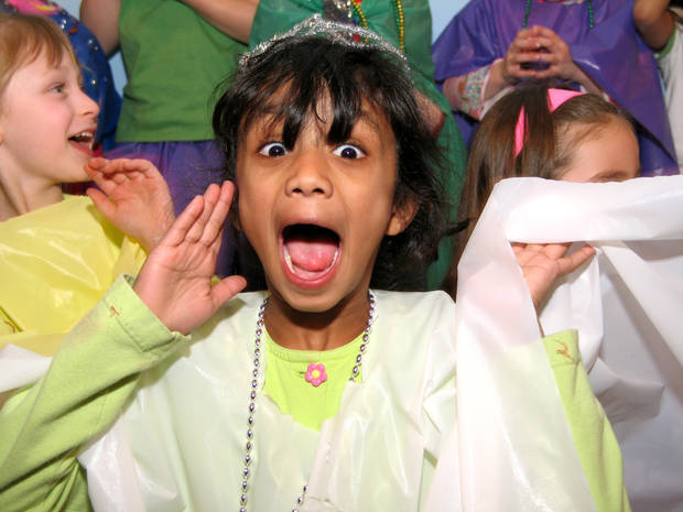 Oklahoma Children's Theatre camp participant Veera Muraleetharan has a screamin' good time!<br/><b>Community Photo By:</b> Oklahoma Children's Theatre<br/><b>Submitted By:</b> Diana, Oklahoma City