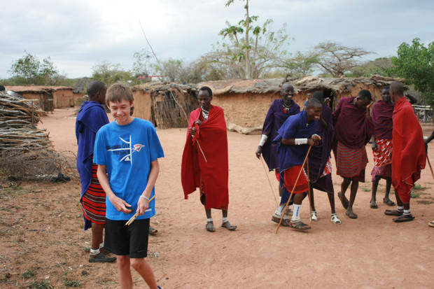 Landon Wilguess learned to make fire with the Masai tribe in Kenya. Then HE showed them how to Thunder Up!