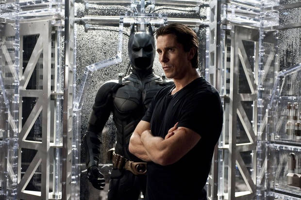 "CHRISTIAN BALE as Bruce Wayne in Warner Bros. Pictures' and Legendary Pictures' action thriller ""THE DARK KNIGHT RISES,"" a Warner Bros. Pictures release. TM and © DC Comics"