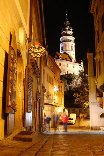 Evenings in Cesky Krumlov are for dining, drinking and enjoying life.  Photo by Cameron Hewitt