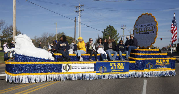 The UCO Student Alumni Association float passes by during the University of Central Oklahoma's homecoming parade in Edmond, OK, Saturday, November 3, 2012,  By Paul Hellstern, The Oklahoman
