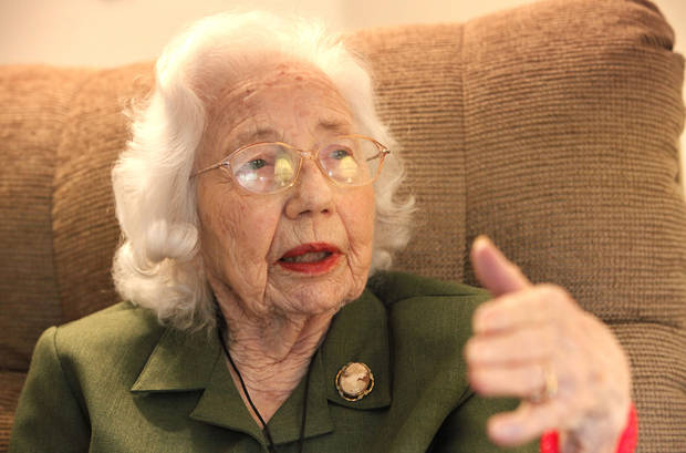 Beatrice Warren, 100, was a nurse at migrant camp during the Dust Bowl. Photo By David McDaniel, The Oklahoman