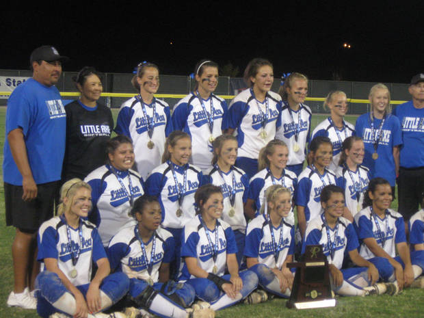 Little Axe softball won its first title Saturday night.