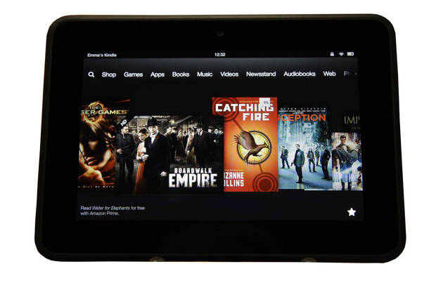 An Amazon Kindle Fire HD is seen on introduction in Santa Monica, Calif.,  on Sept. 6. AP Photo <strong>Reed Saxon - AP</strong>