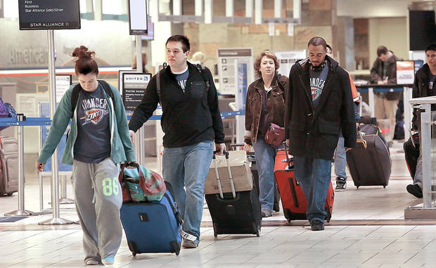 Nearly 600,000 Oklahoma residents are expected to travel more than 50 miles from their homes for Thanksgiving this year.