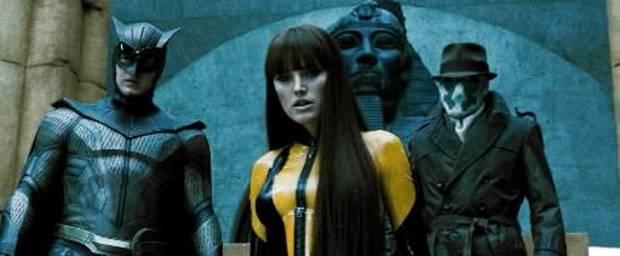 PATRICK  WILSON as Nite Owl II, MALIN AKERMAN as Silk Spectre II and JACKIE EARLE HALEY as Rorschach in Warner Bros. PicturesÕ, Paramount PicturesÕ and Legendary PicturesÕ action adventure ÒWatchmen,Ó distributed by Warner Bros. Pictures.