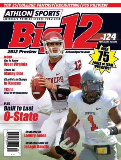Here's a peek at the state's Big 12 Athlon magazine cover.