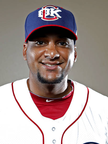 MINOR LEAGUE BASEBALL: Oklahoma City&#039;s Carlos Corporan poses for a photograph during media day for the Oklahoma City RedHawks in Oklahoma City, Tuesday, April 3, 2012. Photo by Sarah Phipps, The Oklahoman
