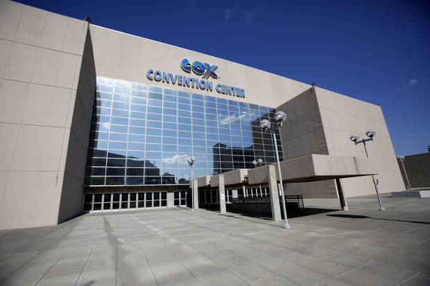The south entrance to the Cox Convention Center is shown in this photo. <strong>Steve Gooch - The Oklahoman</strong>