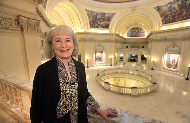 Donna Garlick, a legislative executive assistant, began working at the state Capitol in 1965. She retired once, but that only lasted for two and a half years. Photo by David McDaniel, The Oklahoman